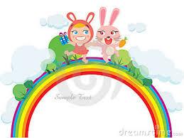 rainbows and bunnies